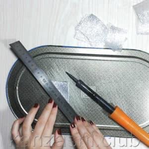 нарезаем листья из парчи