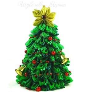 Новогодняя елочка канзаши